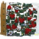 ~*BOLD*~STRAWBERRY CHINTZ~* 50+ Mosaic Tiles -SB4.