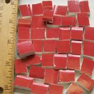 Handpainted*~CRANBERRY  FILLERS~*50 Mosaic Tiles
