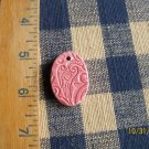 ~RASPBERRY ICE PAISLEY PENDANT*~HM Ceramic Beads/Charms