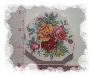 ~*Rustic ~*ROSE BOUQUET~*  Mosaic Lg Focal Tiles