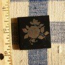 Mosaic Tiles *~22k GOLD ROSE on Black*~ 1 HM Kiln Fired
