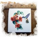 ~HUMMINGBIRD in Granny's GARDEN**~ Mosaic Focal Tiles