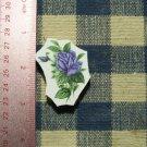 Mosaic Tiles*~ELEGANT BLUE ROSE * 1 Rnd HM Kiln Fired