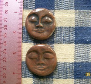 Mosaic Tiles ~*EXPRESSO FACES*~ 2 HM Clay Kiln Fired
