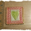 Mosaic Tiles ~*FRAMED HEART*~1 HM Clay Kiln Fired