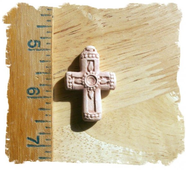 Mosaic Tiles ~*ELEGANT CROSS*~ 1 HM Clay Kiln Fired