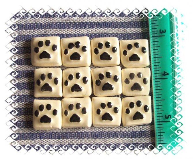 Mosaic Tiles ~A DOZEN DOG PAWS~ 12 HM Focals