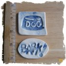 Mosaic Tiles ~*DOG LOVER TILES*~ 2  Kiln Fired HM Clay