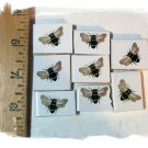 Mosaic Tiles~ *BUZZING BUMBLE BEES* ~8 Kiln Fired