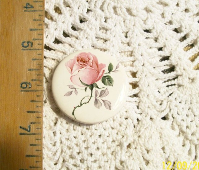 Mosaic Tiles ~*SINGLE PINK ROSE ~1 HM Pendant - Pin