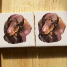 Mosaic Tiles~*DASCHUND*~ 2 Dog  Focals ~Kiln Fired