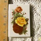 Mosaic Tiles *~YELLOW & PINK ROSES~*1 LG HM Kiln Fired