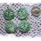 Mosaic Tiles~EMBOSSED LEAF COINS+~4 Kiln Fired HM Clay