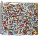 *~TINY PINK ROSES w/BLUE CHINTZ~ 50+ Mosaic Tiles