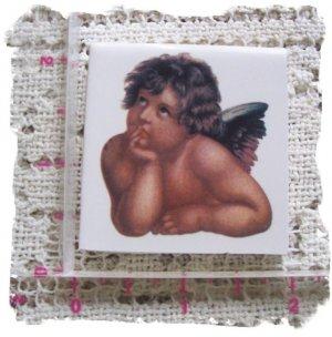 FREE SHIP *~Charming ~*ANGEL RAPHAEL*~1 Lg Mosaic Tiles