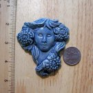 Pottery Embellishment FLOWER LADY*~LG. Pendant-Tile-Art