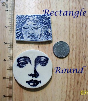 Embellishment ~*Blue/White FACES*~U-Choose Mosaic Tiles