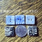 Hm One-Of-A-Kind ~*EMBOSSED SQUARE  BUTTONS*~ MIX