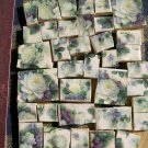Beautiful~*DELICATE WHITE ROSE CHINTZ~*50+ Mosaic Tiles