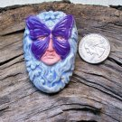 HM Pottery Ceramic *~PURPLE MASK FACE~ Tile or Pendant