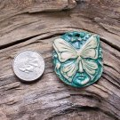 1 HM Pottery Pendant or Tile *~DK TURQUOISE SPIRIT FACE