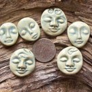 6 HM Pottery*~SEA SPRAY EMBOSSED FACES~*Mosaic, Jewelry