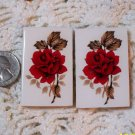 2 Mosaic Tiles ~*PRETTY RED ROSES*~ HM FOCALS CENTER