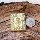 HM Pottery Ceramic *~HEART FLOWER TILE~* Tile /Pendant