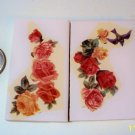 2 Mosaic Tiles ~*DOVES & ROSES*~ FOCALS*~