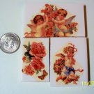 3 Mosaic Tiles ~*ANGELS AND ROSES*~ FOCALS*~