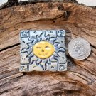 HM Pottery Ceramic *~LARGE SUN TILE~* Tile /Pendant