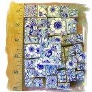 Fabulous *~AQUA BLUE VALENCIA CHINTZ~ 50+ Mosaic Tiles