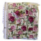 * *SHABBY PINK ROSES * * 50+  Mosaic CHINTZ Tiles