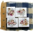 4 Mosaic Tiles ~*CHARMING CHERUBS*~ FOCALS*~Kiln Fired