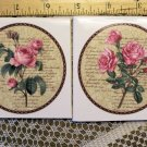 Mosaic Tiles *~BEAUTIFUL PINK ROSES~* 2 LG FOCALS
