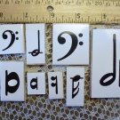 Mosaic Tiles *~MUSICAL NOTES~* 8 LG FOCALS OOAK
