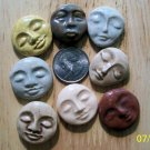 Mosaic Tiles ~EARTH TONE FACES~ 8 HM Focals Kiln Fired