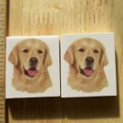 Mosaic Tiles *~GOLDEN RETRIEVERS~* 2 LG HM Kiln Fired