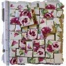 Stunning ~~PURPLE PANSY CHINTZ ~~ 50+ Mosaic Tiles