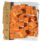 Handpainted*~BRIGHT ORANGE  FILLERS~*50 Mosaic Tiles