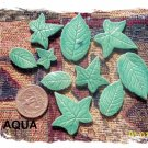 HANDMADE POTTERY*~ART LEAVES+~ Mosaic Embellishments