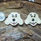 FUN 2 Pottery Pieces~*HIS & HER DOG FACES*~ Mosaic Tile