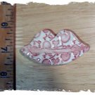 Mosaic Tiles ~ LUSCIOUS LIPS ~ 1 Kiln Fired Clay