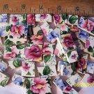 ~*BEAUTIFUL SWEET PEA FLORALS~*  50+  Mosaic Tiles