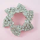 Vintage Rhinestone Brooch Large Swirling Star Design