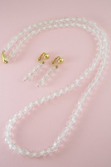 Vintage Swarovski SAL Crystal Necklace Earring Demi Set Signed