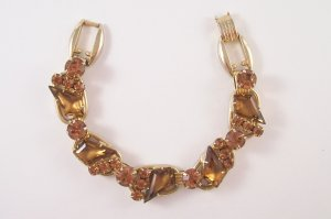 Vintage Juliana Topaz Kite Rhinestone Bracelet Delizza and Elster