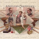 Vintage American Champions Digital Cigar Art Ephemera Scrapbooking Altered Art