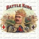 Vintage Battle King Digital Cigar Art Ephemera Scrapbooking Altered Art