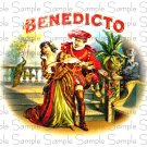 Vintage Benedicto Digital Cigar Art Ephemera Scrapbooking Altered Art